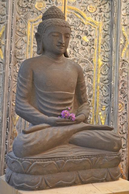 echter Steinbuddha Gartenfigur Wohnaccessoires