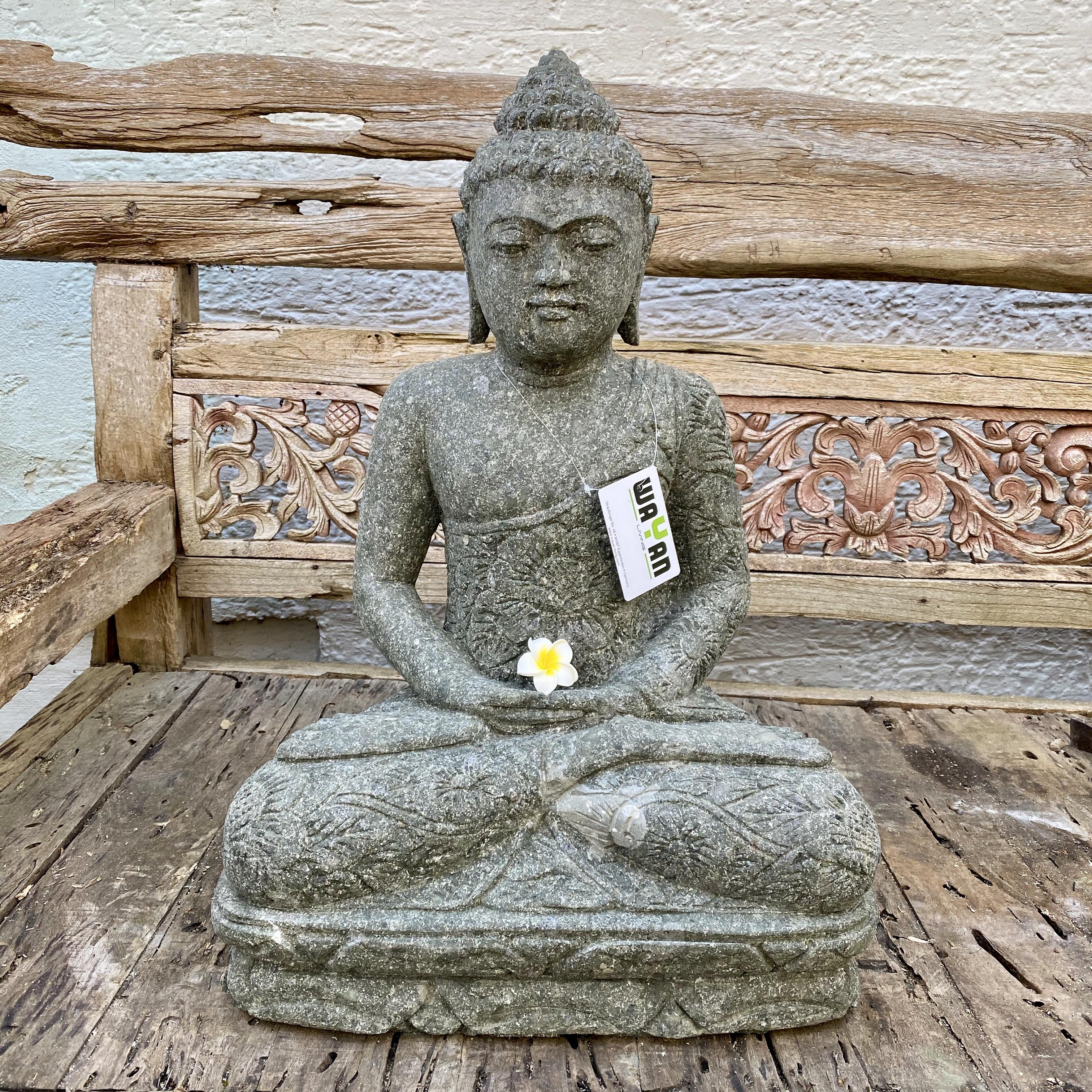 Bali Buddha mit Batikdress 63 cm