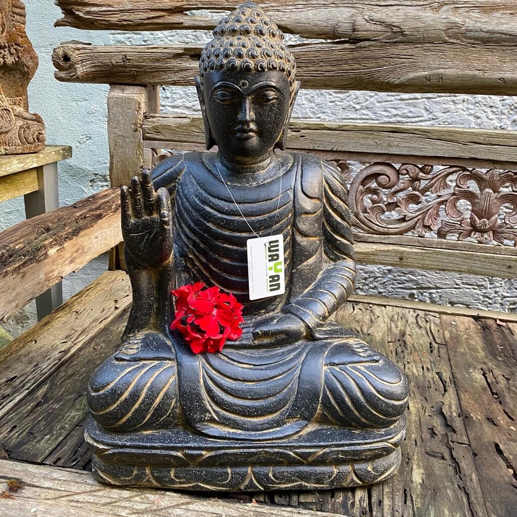 Buddha echter Flussstein 60 cm