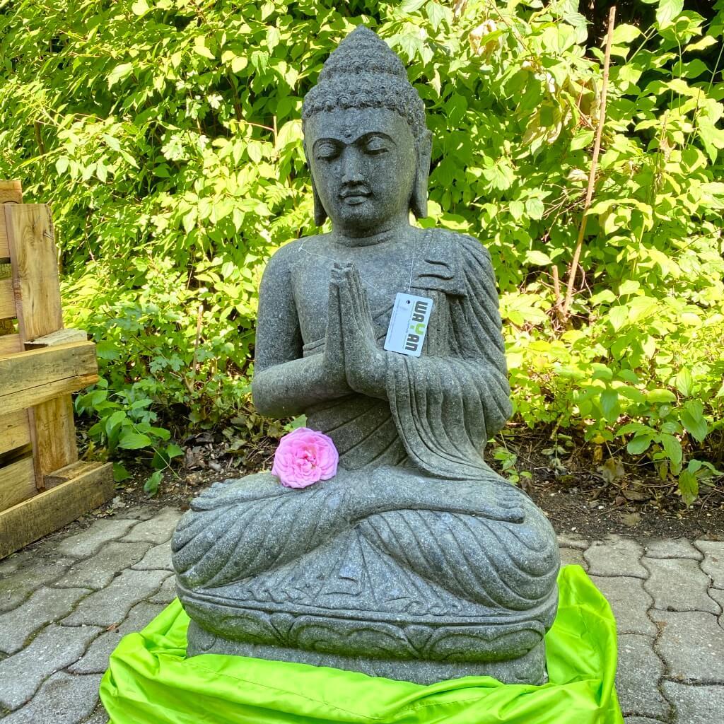 Buddhaskulptur klassisch Stein 100 cm