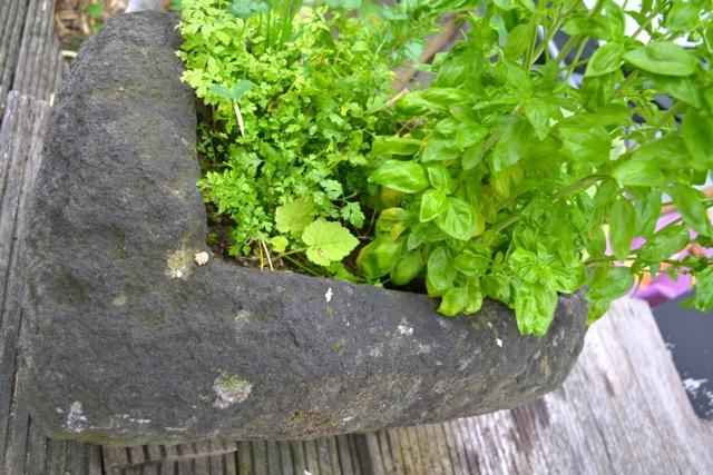 Steintrog Pflanztrog für den Garten 70 cm