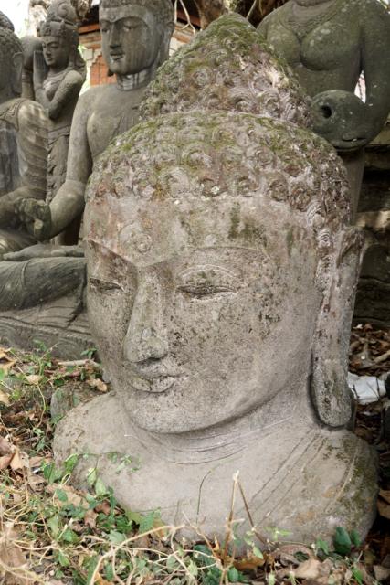 Buddhafigur Steinbüste für den Garten