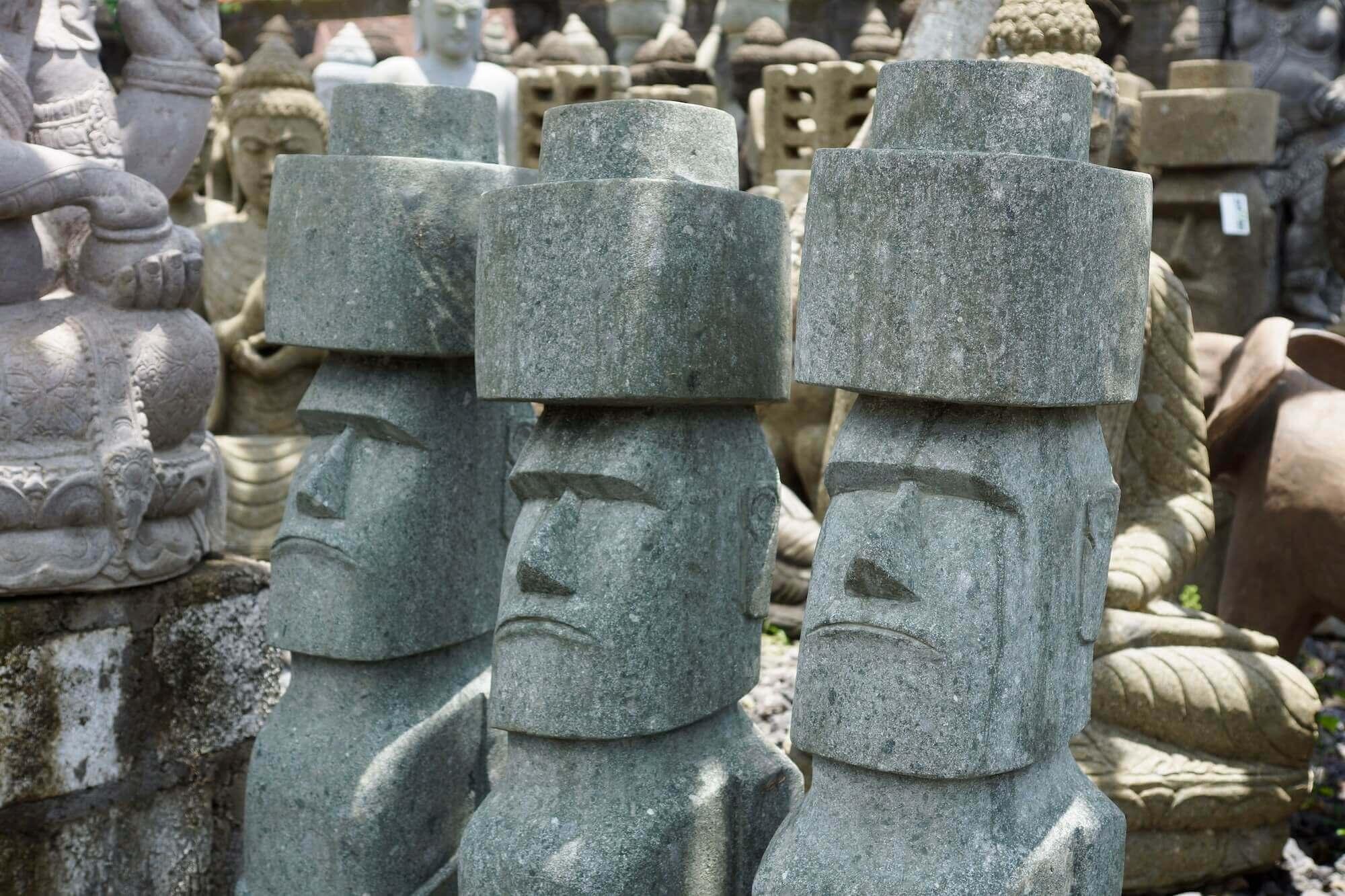 Moai-, Tiki Tiki oder Osterinsel-Skulpturen