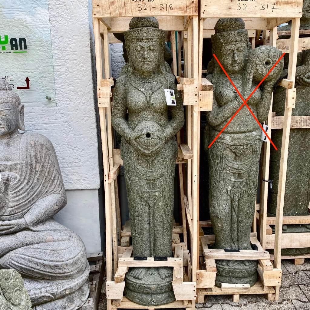 Göttin Dewi Gentong Gartenfigur 153 cm