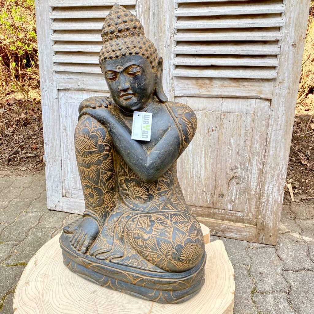 Relax Buddha Flussstein antikstyle  82 cm