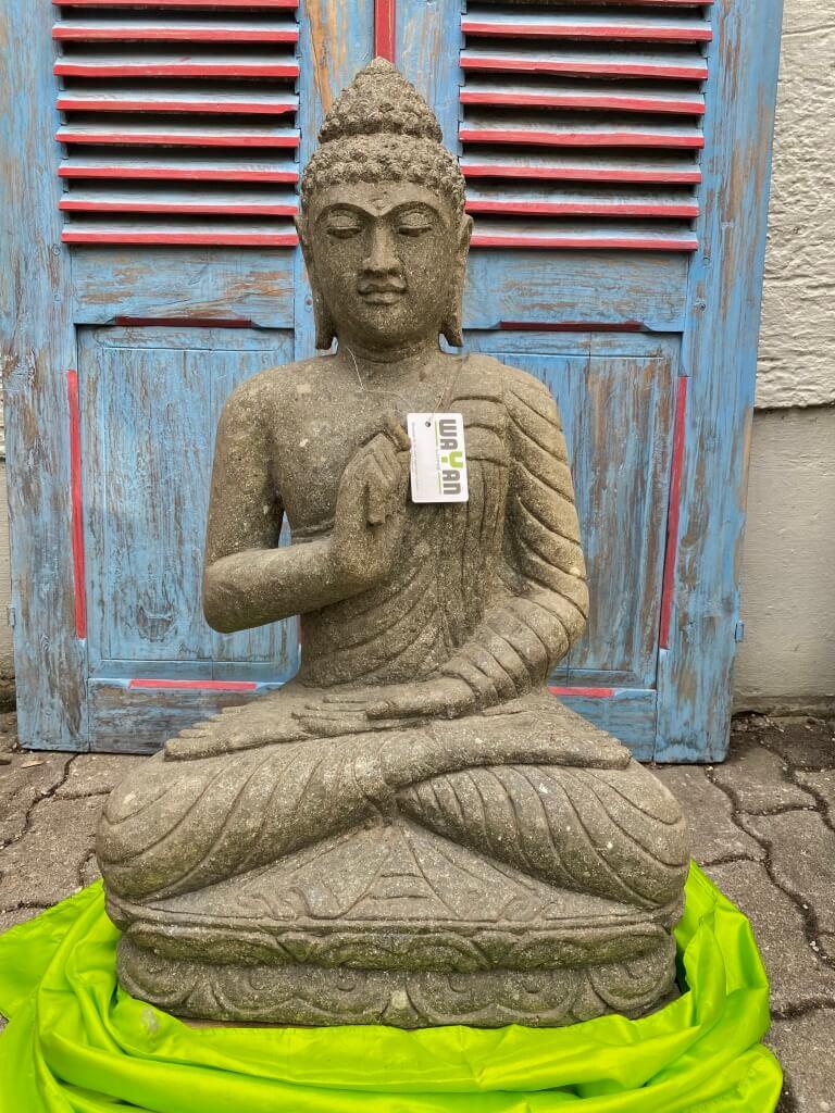 Buddha Foo Steinskulptur 82 cm