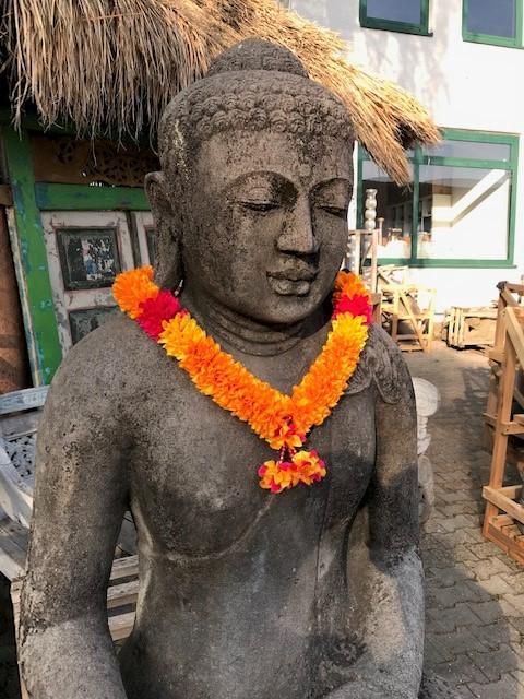 echter großer Monsoon Buddha aus Stein