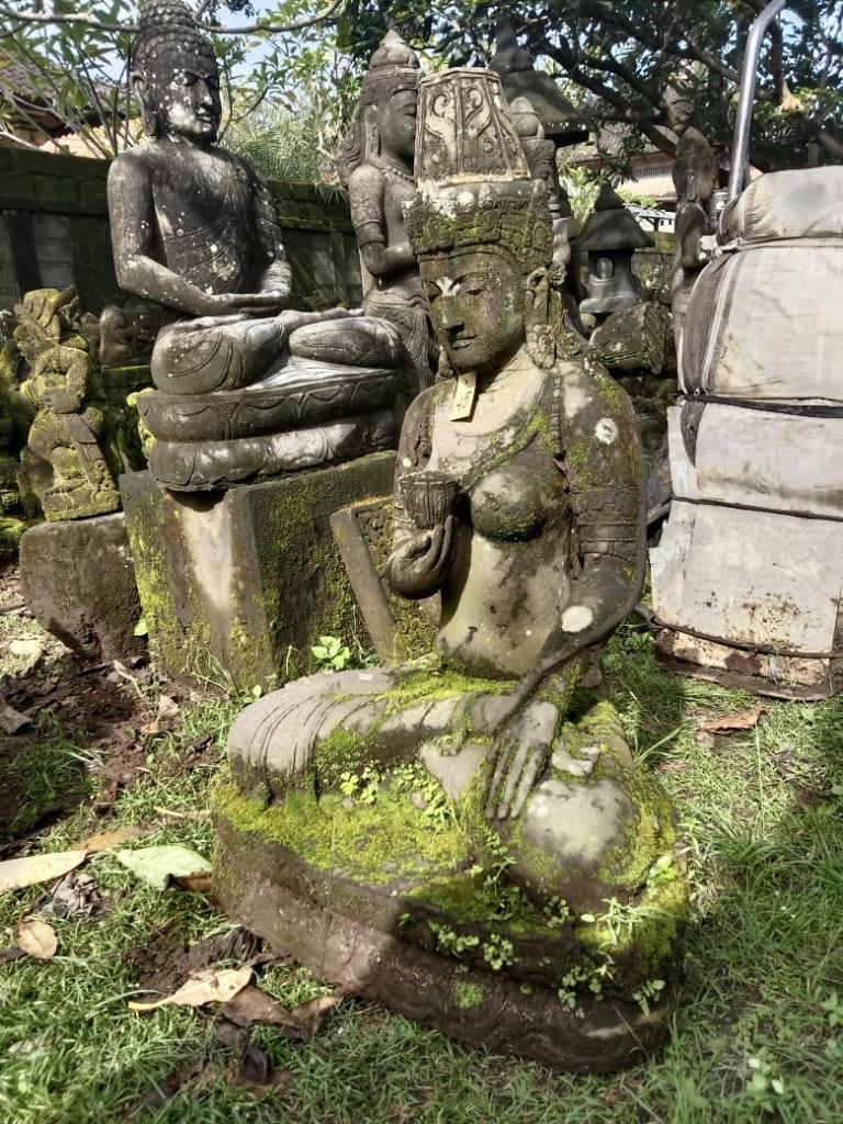 Göttin Dewi mit Monsoonfinish 110 cm
