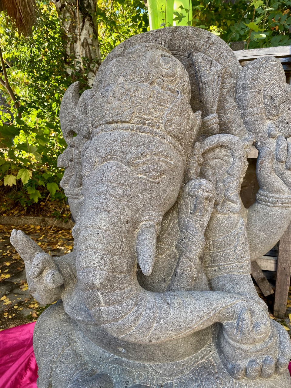 Ganesha Elefantengott Steinskulptur 105 cm