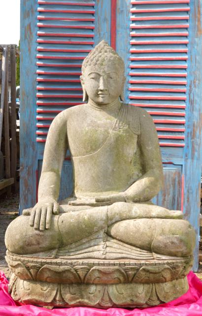 Monsoon Buddhaskulptur für den Garten 120 cm