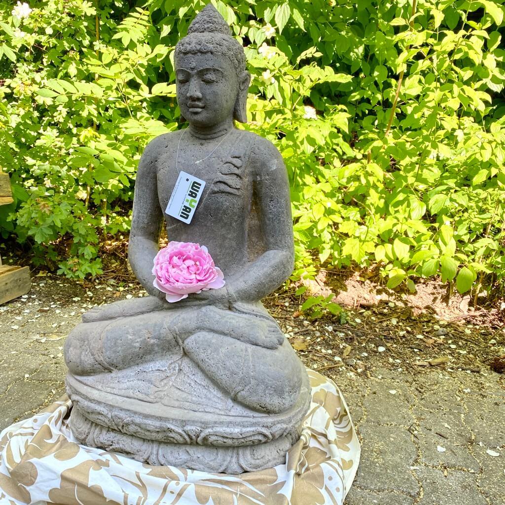 klassischer Monsoon Steinbuddha 80 cm