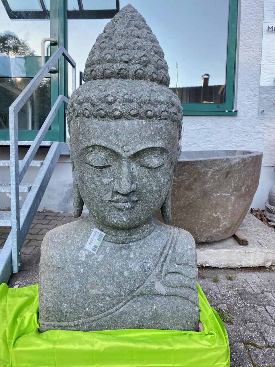 Buddhabüste Steinstatue