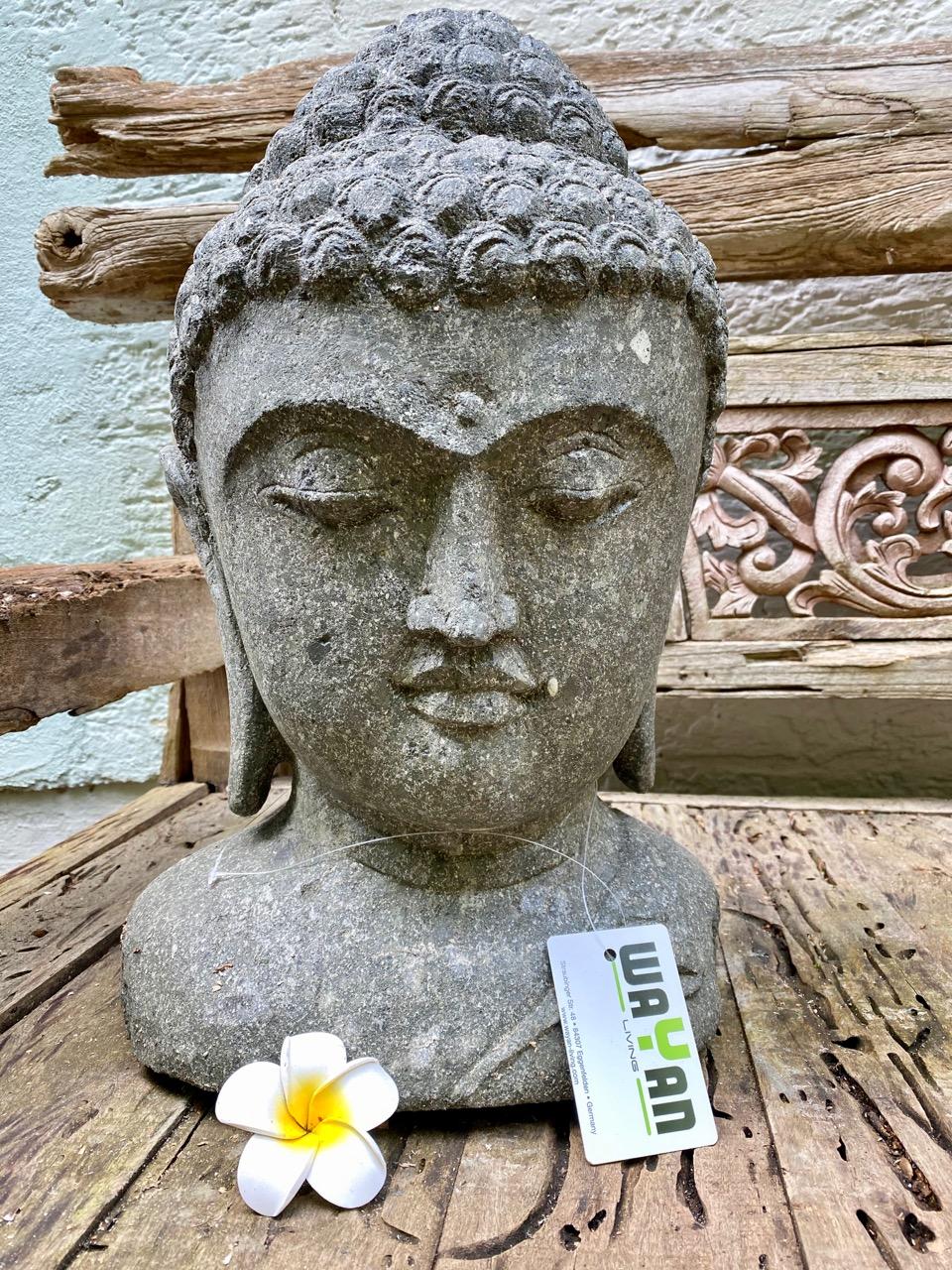 Buddhakopf Steinbüste 51 cm