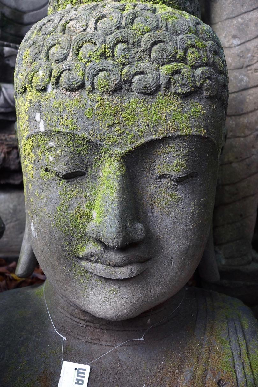 Buddha Steinbüste mit Monsoonfinish