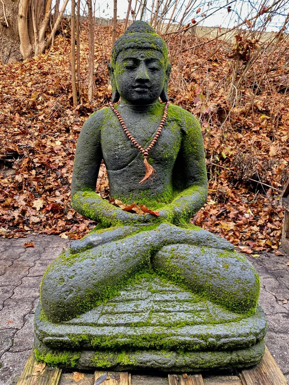 Monsoon Buddhastatue Steinfigur