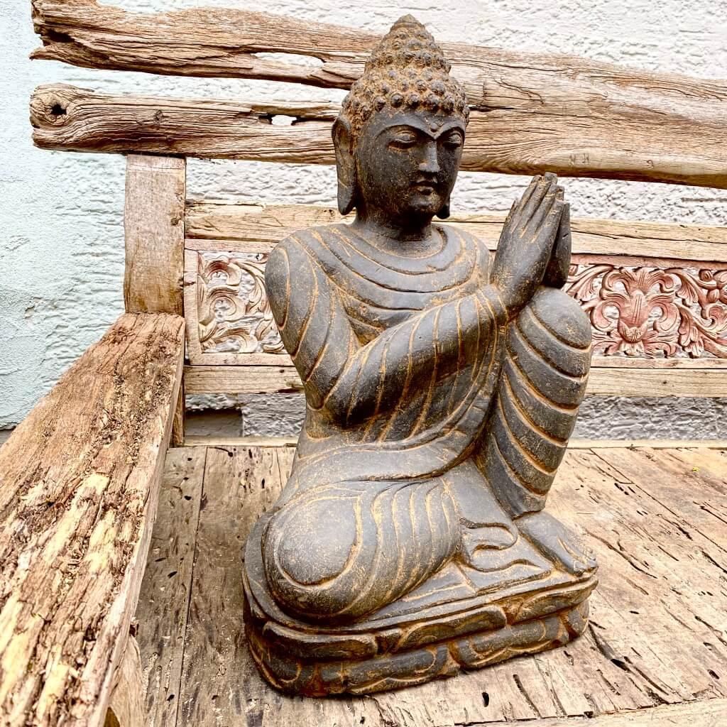 Relax Buddha Steinfigur 64 cm