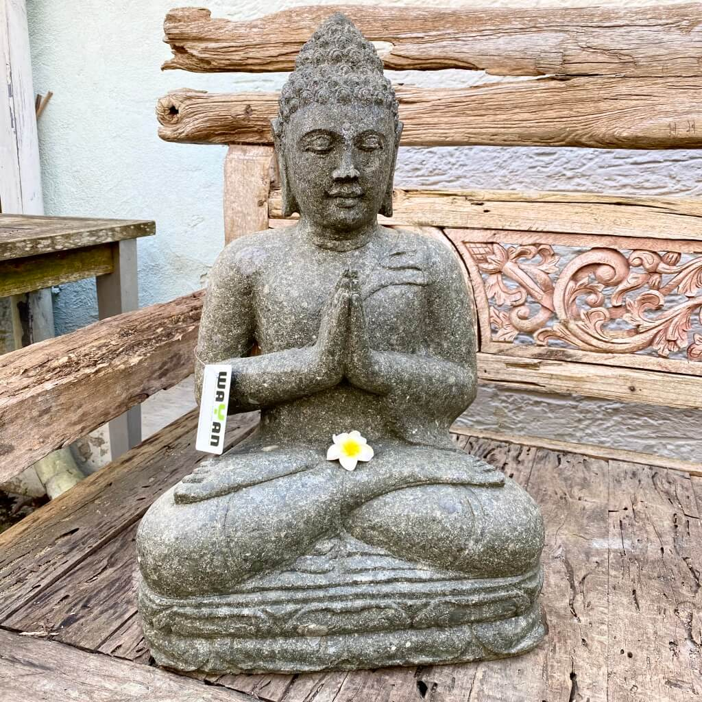 Buddhafigur sanft lächelnd 60 cm