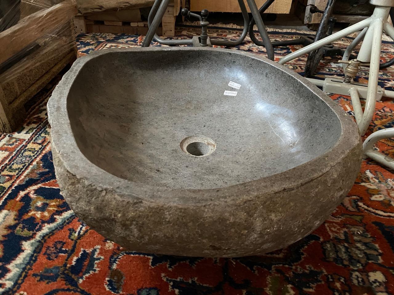 Steinschale Waschbecken 52 cm