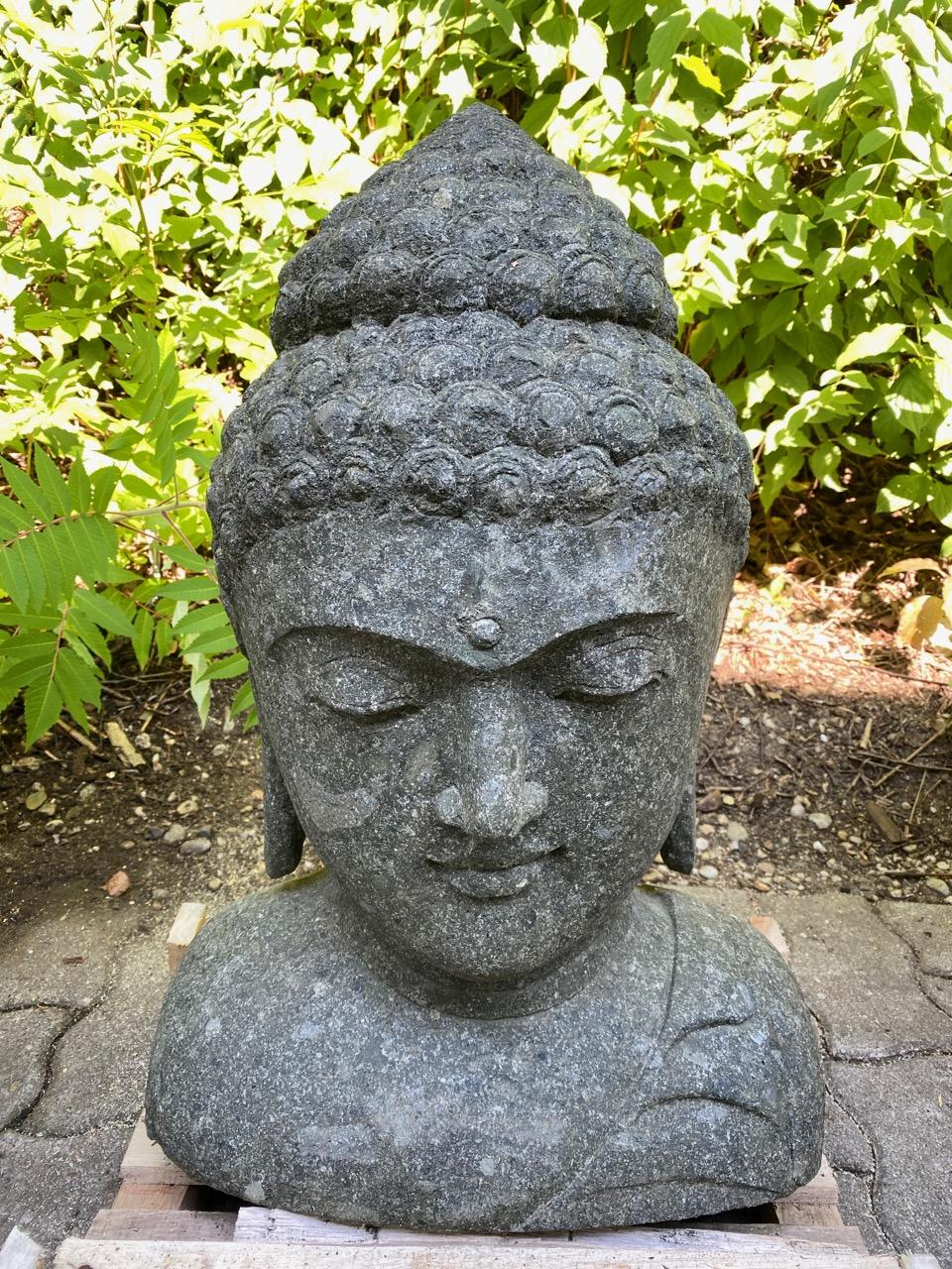 Buddhakopf Steinbüste