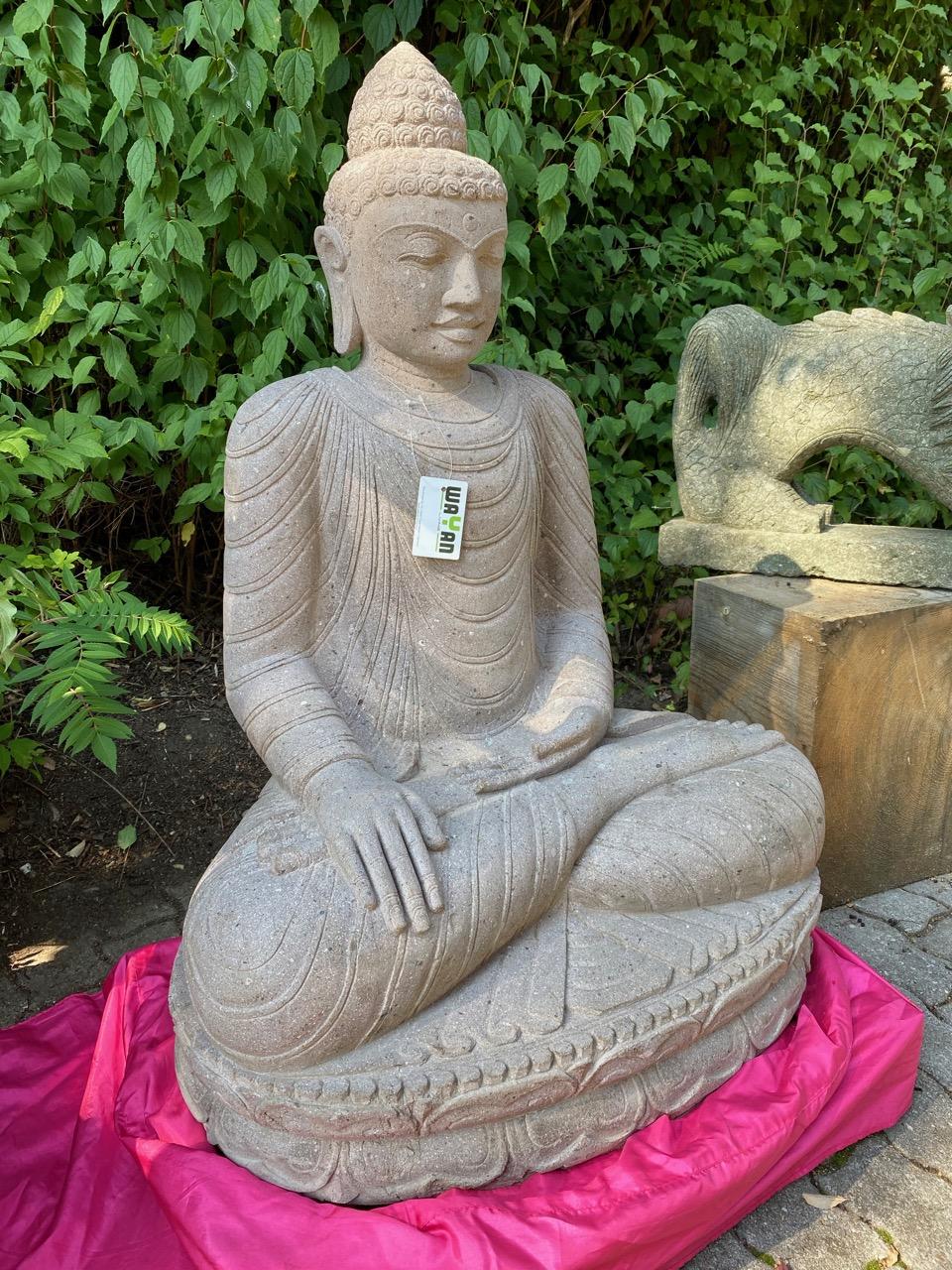 exzellenter Buddha Riverstone 110 cm