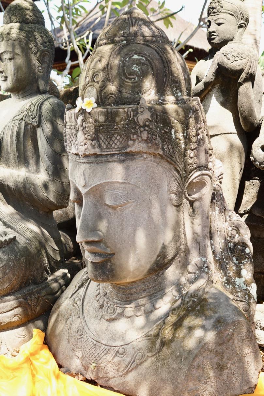 Göttin Dewi Steinbüste für den Asiagarten