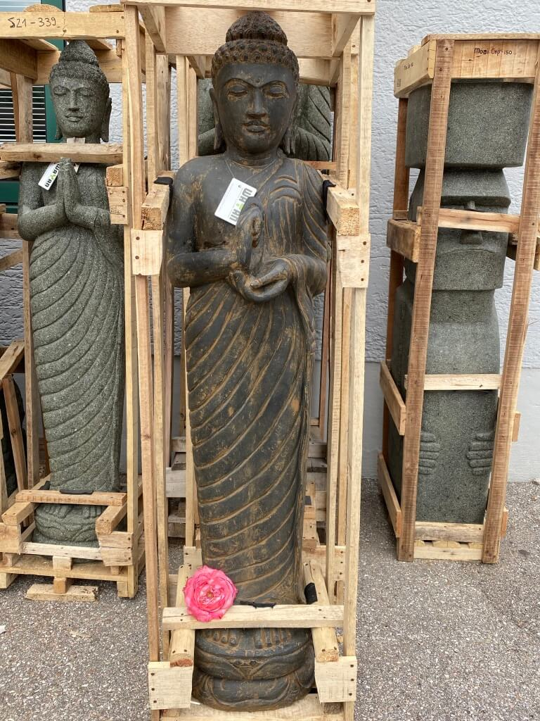Buddha stehend am Rad der Zeit drehend 150 cm