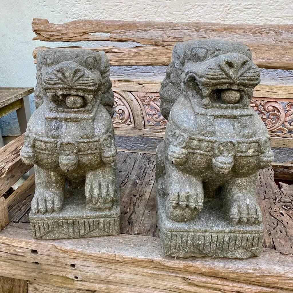 Tempelwächter Löwenpaar  65 cm
