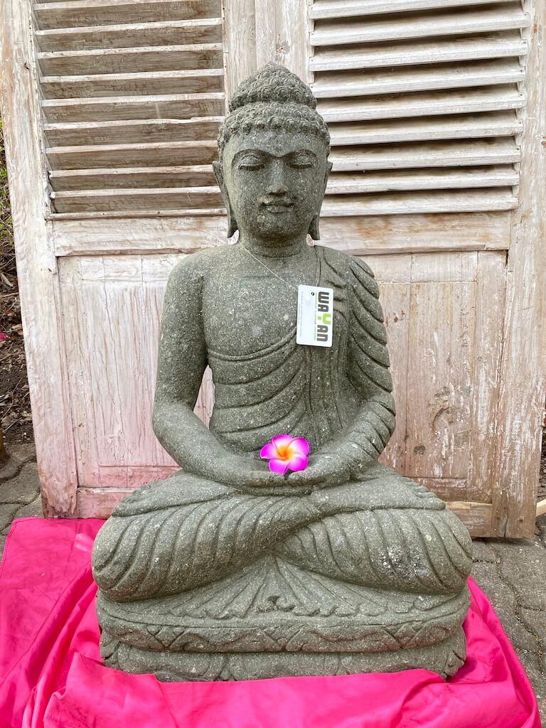 Buddhafigur Gartenskulptur 84 cm