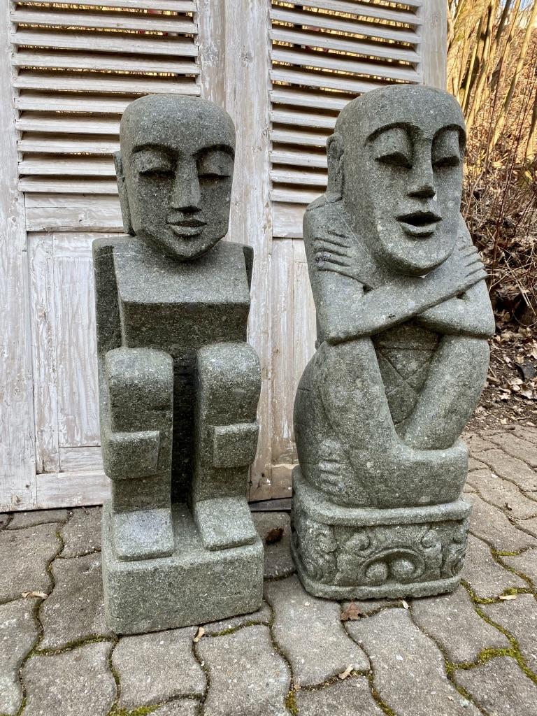 Moai Steinfiguren Pärchen 84 cm