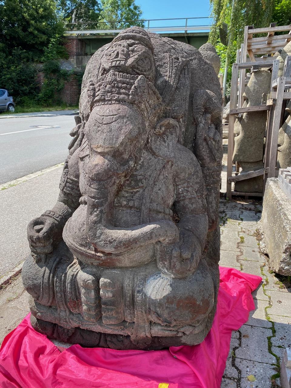Ganesha Steinskulptur für den Garten