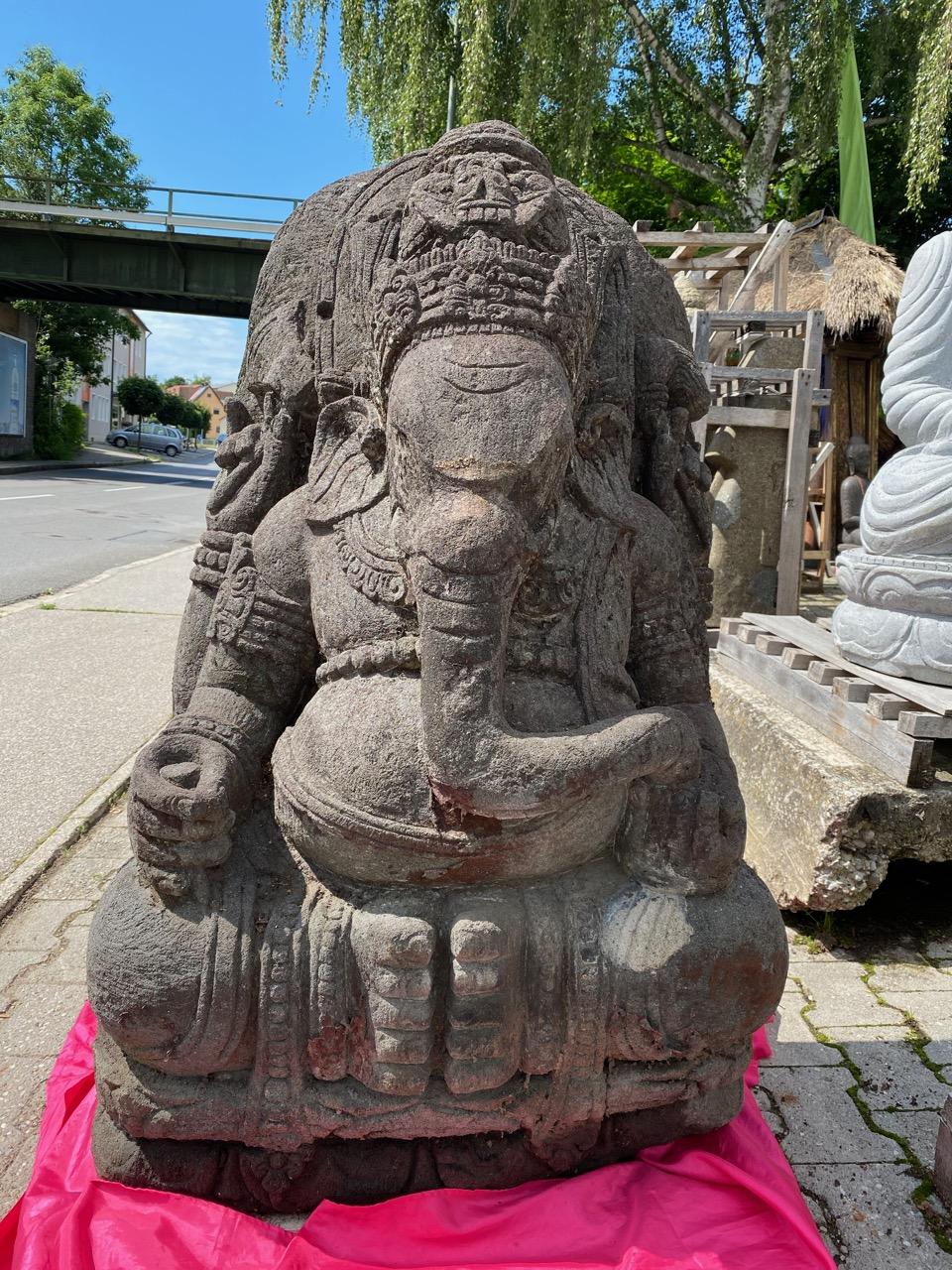 Elefantengott Ganesha Steinfigur