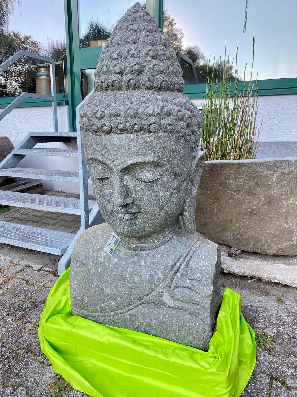 großer Buddhakopf Steinbüste 130 cm