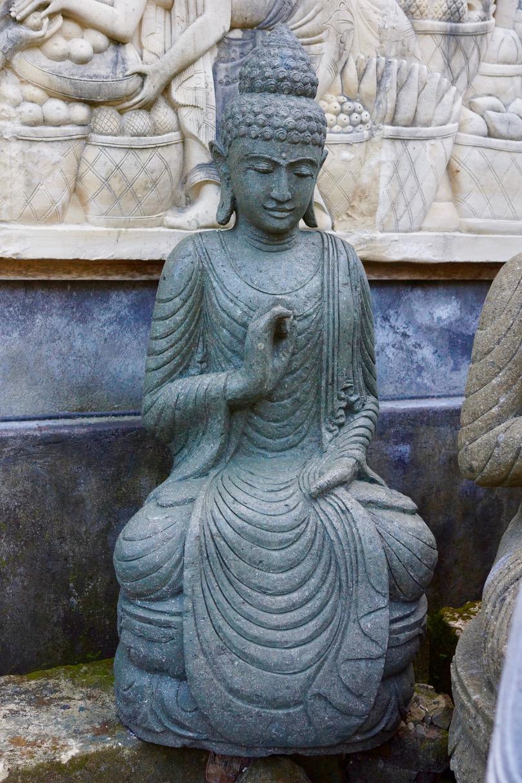 Gartenstatue Buddha Steinskulptur 120 cm