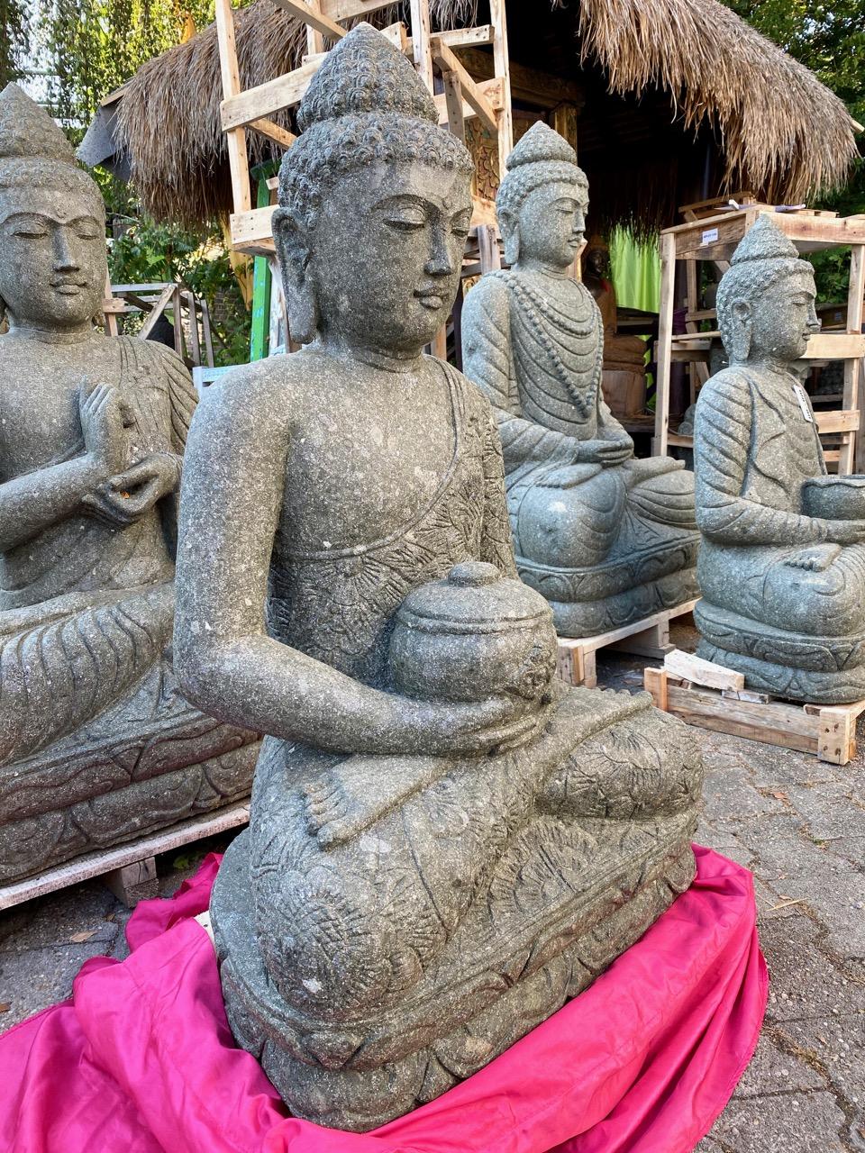 Medizinbuddha Steinstatue 104 cm