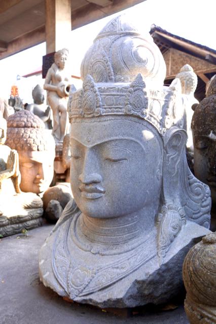 Gartentraum Steinstatue Dewi
