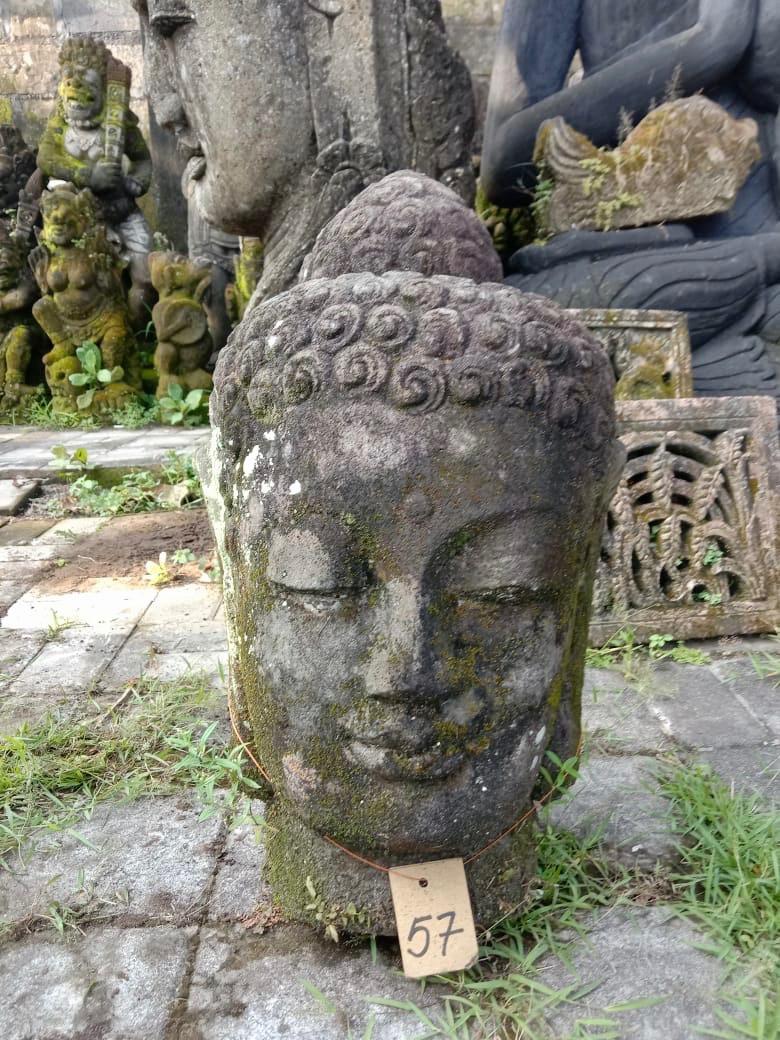 Buddhakopf mit Monsoonfinish 53 cm