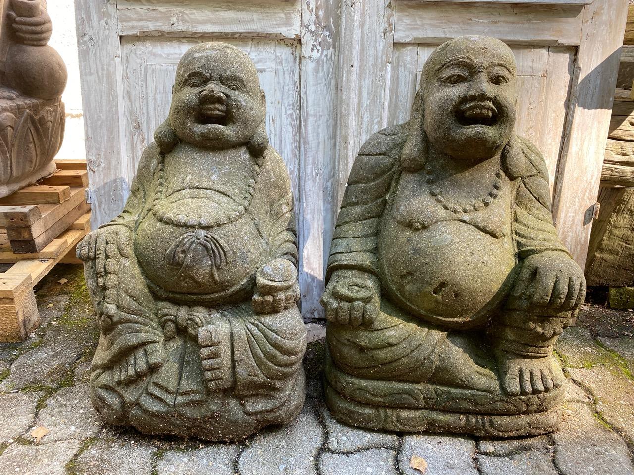 Happy Buddha Steinfiguren