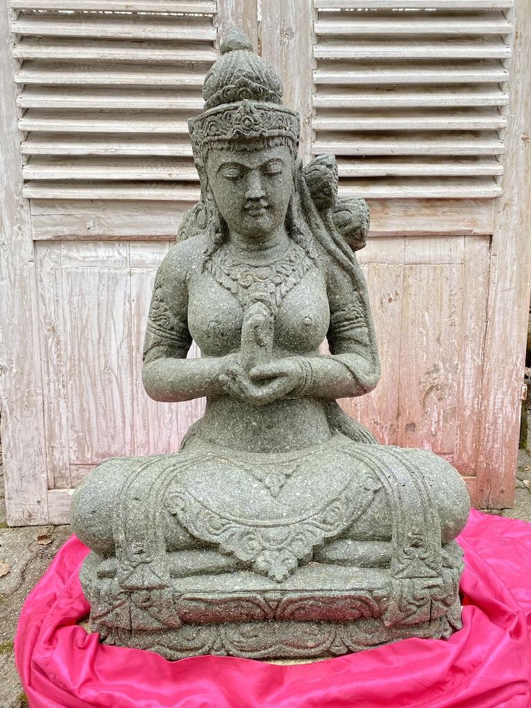 Steinstatue Göttin Dewi Tara 83 cm