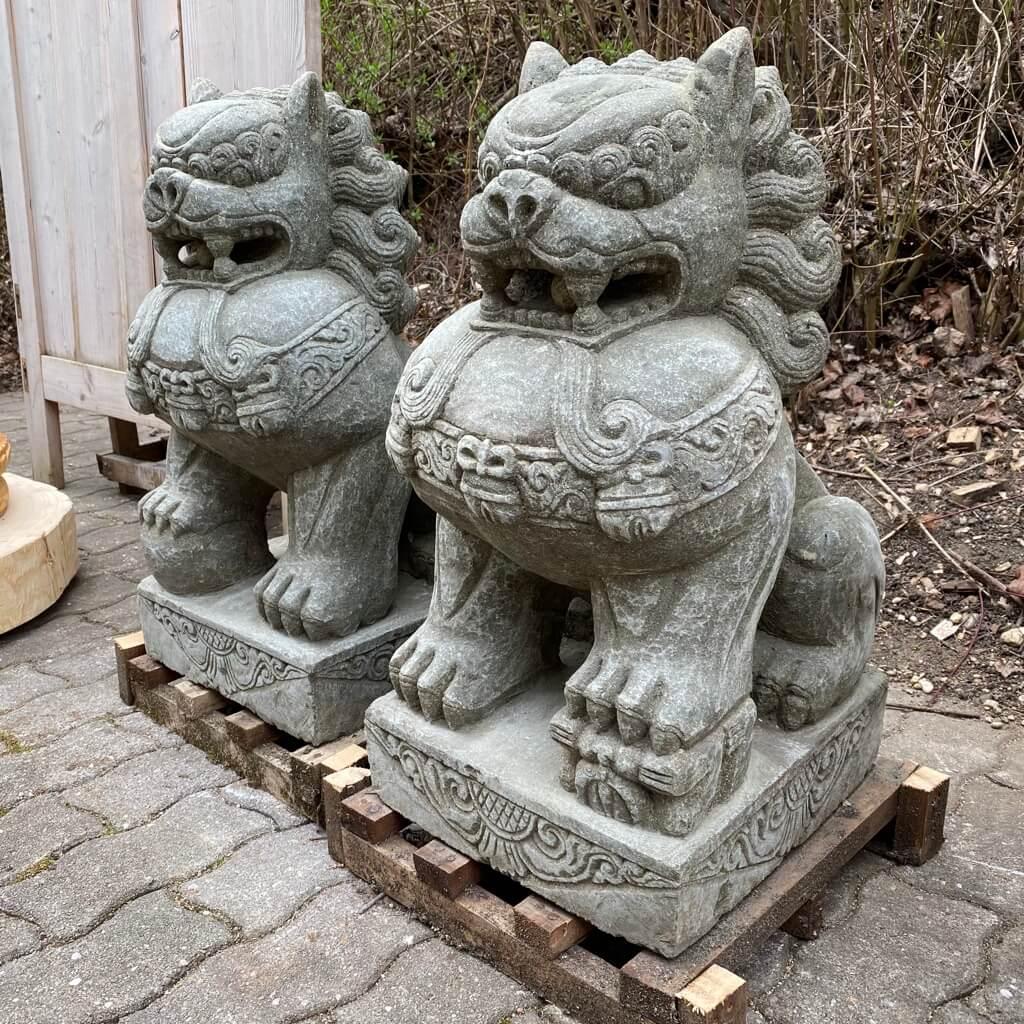 Tempelwächter Löwenpaar 68 cm