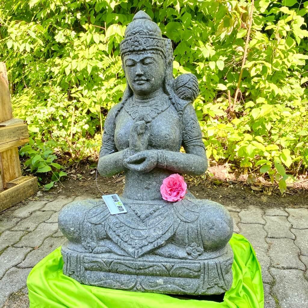 elegante Steinstatue Dewi 87 cm