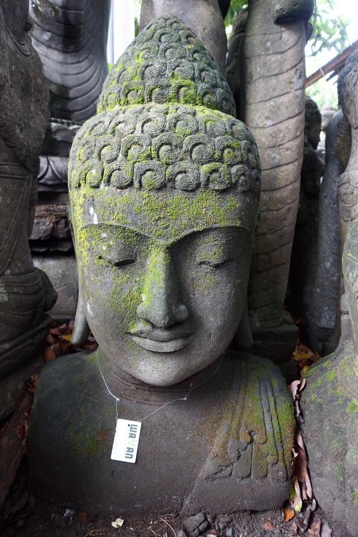 Monsoon Buddhabüste Steinfigur 120 cm