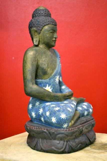 Buddhafigur echt bemalt