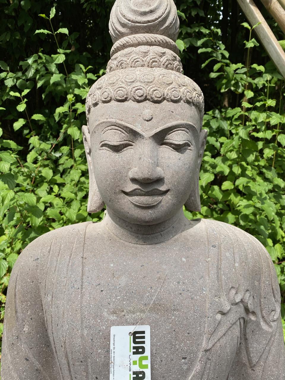 Sitting Budha Thai-Style Steinfigur Buddhas 130 cm