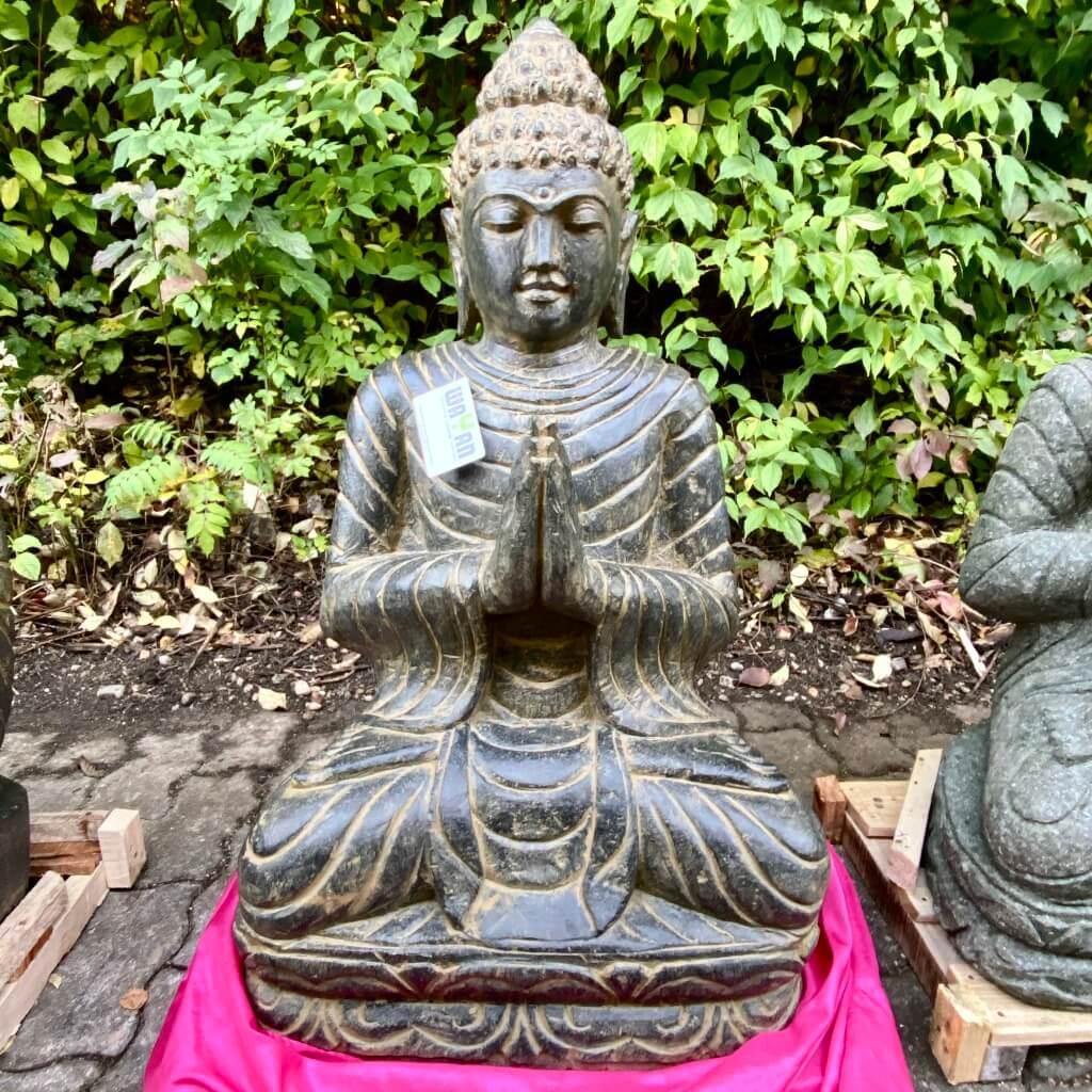 Buddha Steinskulptur antikstyle 88 cm