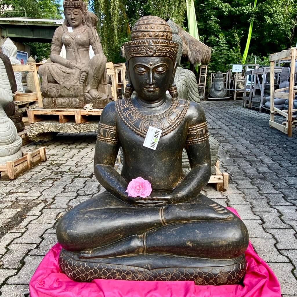 Kaschmir Buddha Flussstein 95 cm
