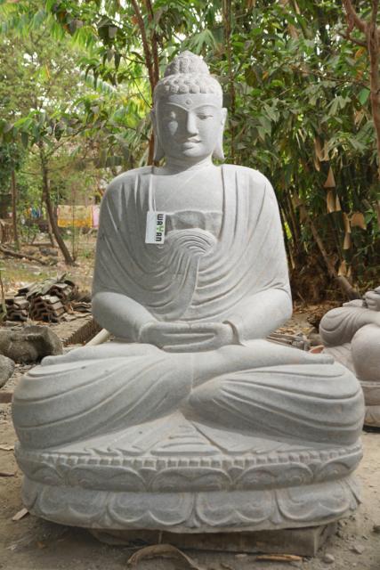 weisser Steinbuddha