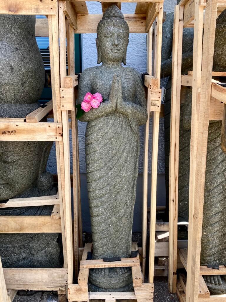 Buddha Steinstatue stehend  152 cm