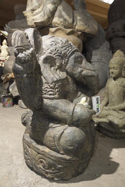 Ganesha Steinfigur Interieur