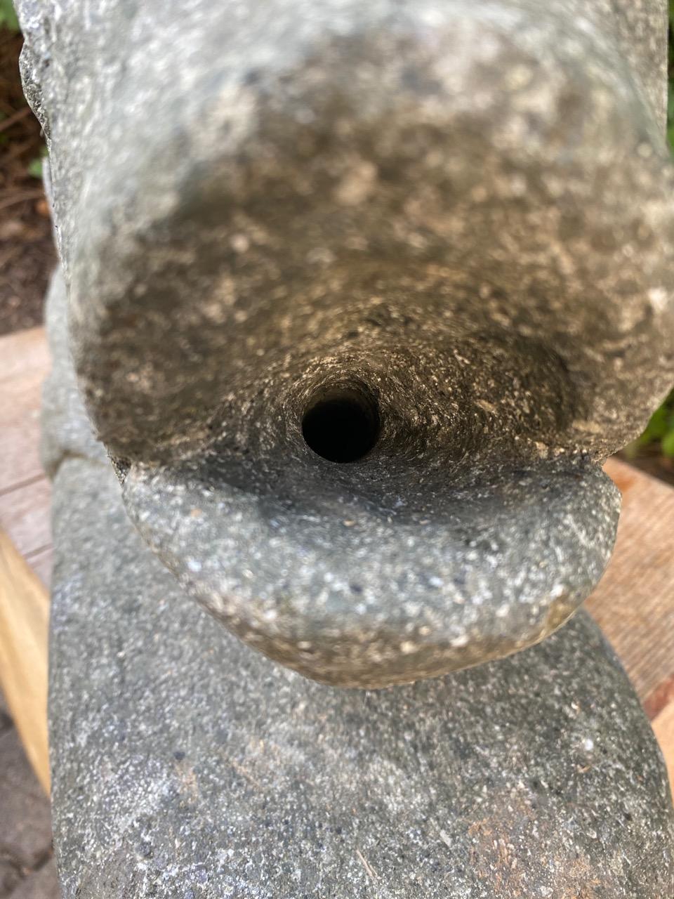 Fisch Brunnenskulptur als Wasserspeier 72 cm