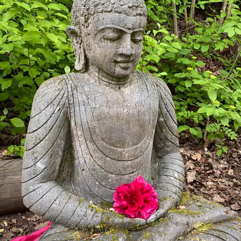Monsoon Buddha Steinstatue 110 cm